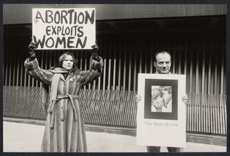 Anti-abortion demonstration at the United Nations