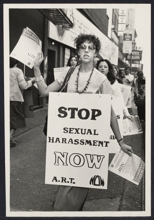 Women demonstrate against sexual harassment in the arts and theatre