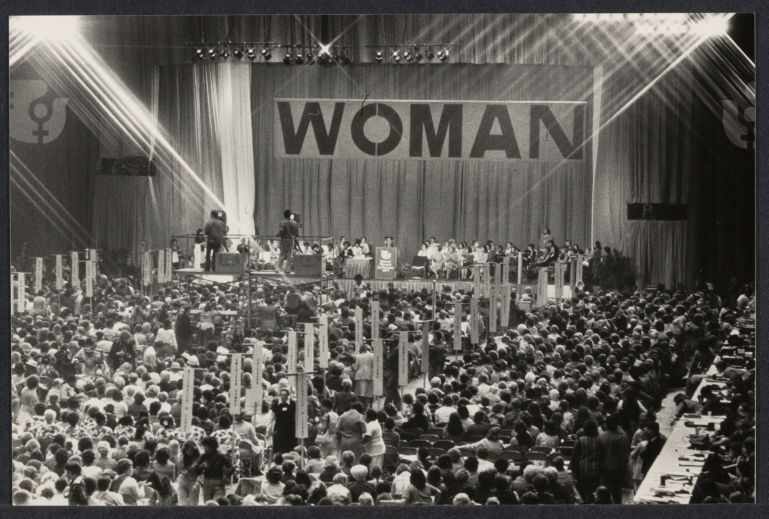 Main hall at International Women's Year conference in Houston