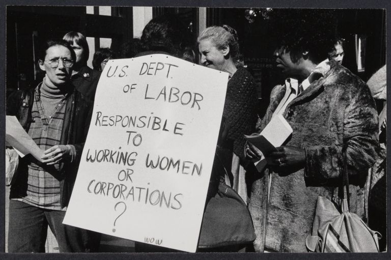 Women Office Workers demonstrate at Labor Department