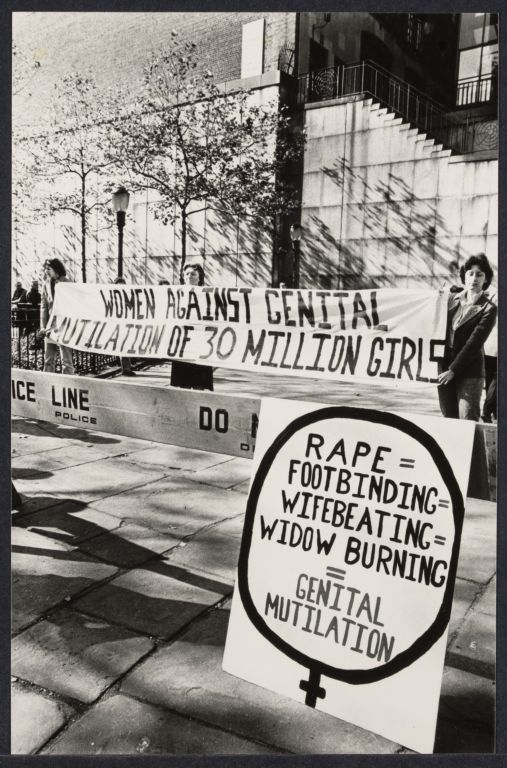 Violence against women demonstration at United Nations