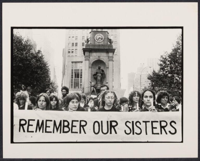 Violence against women demonstration