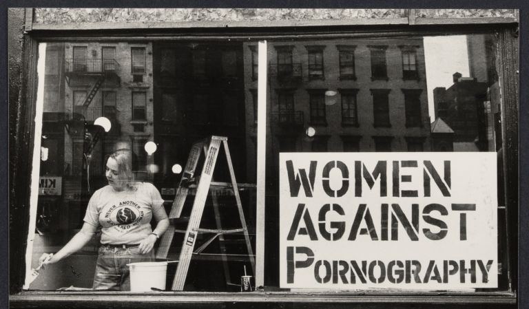Storefront of Women Against Pornography, June 16, 1979, by Bettye Lane