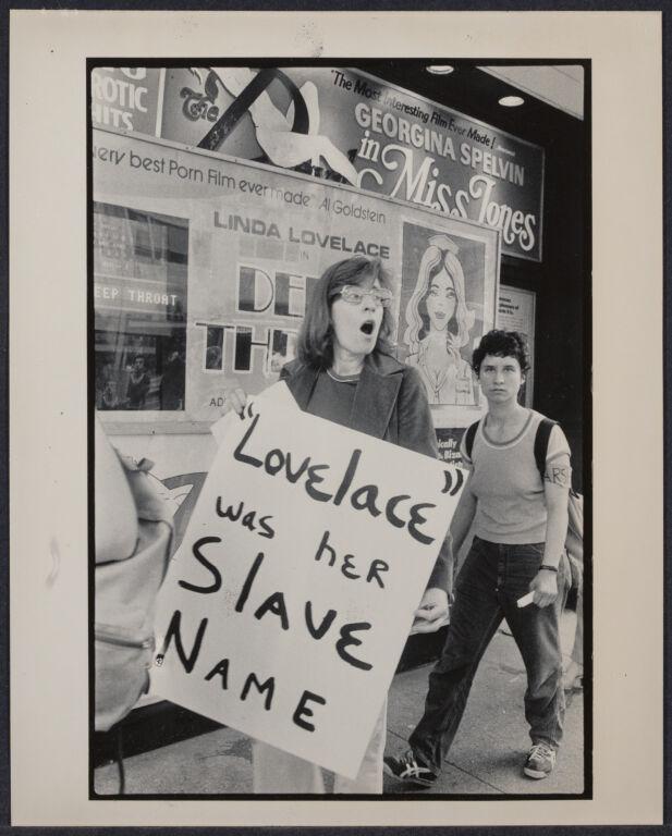 """Anti-Linda Lovelace"" movie demonstration"