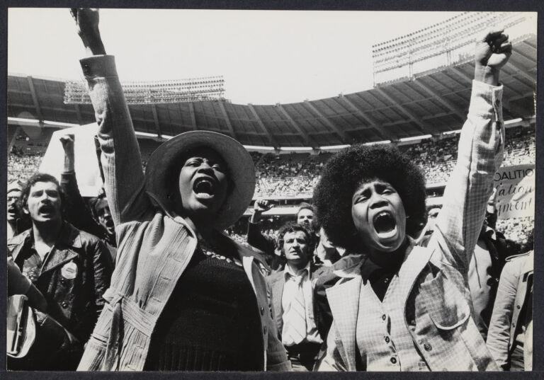 Union women at RFK Stadium in Washington, D.C.