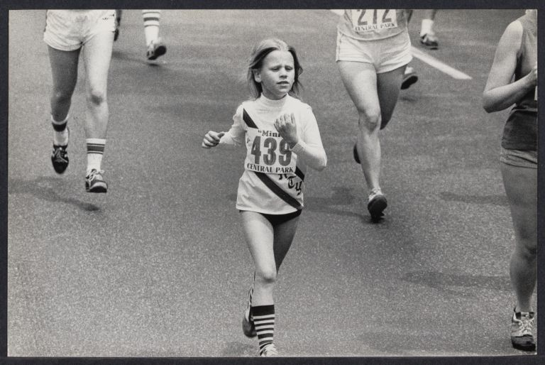 10 year old runner Nancy Krolewski from the Liberty Athletic Club (RI)
