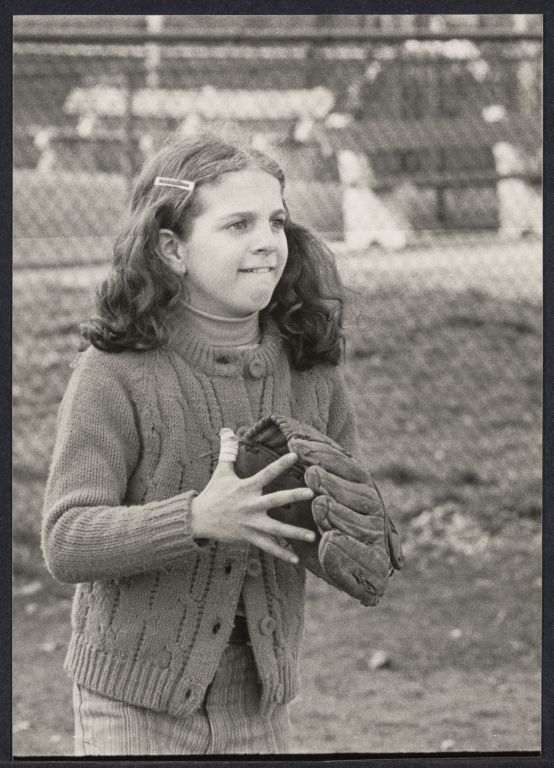 Kim Mincica (who made the team) at little league tryouts