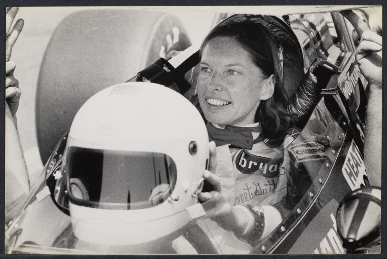Janet Guthrie, first woman to qualify for the Indy 500, at Trentonian 200