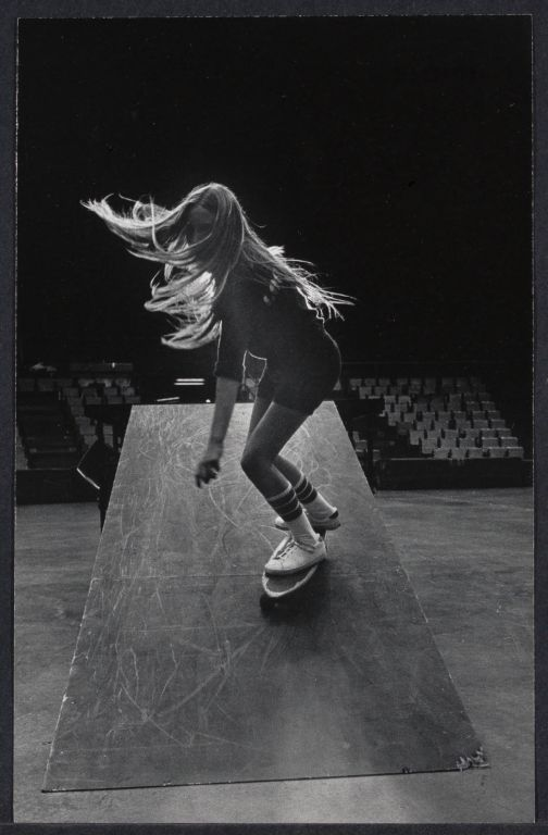 Laura Thornhill-Champion skateboarder during Competition at Nassau Coliseum, NY