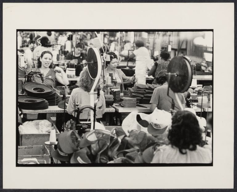 Hat factory workers