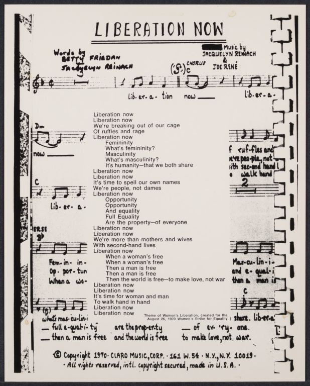 Song written by Betty Friedan and Jackie Reinach in the early 1970s.
