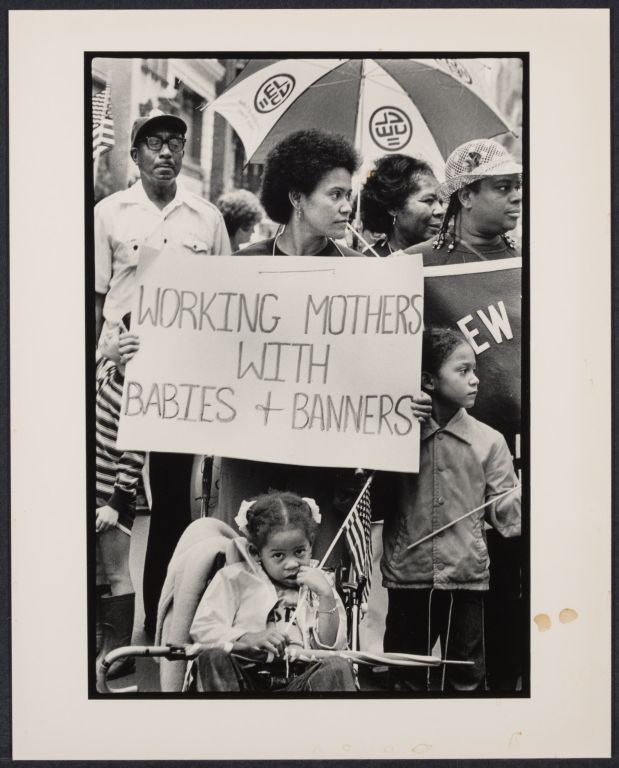 Union women and children at Labor Day march