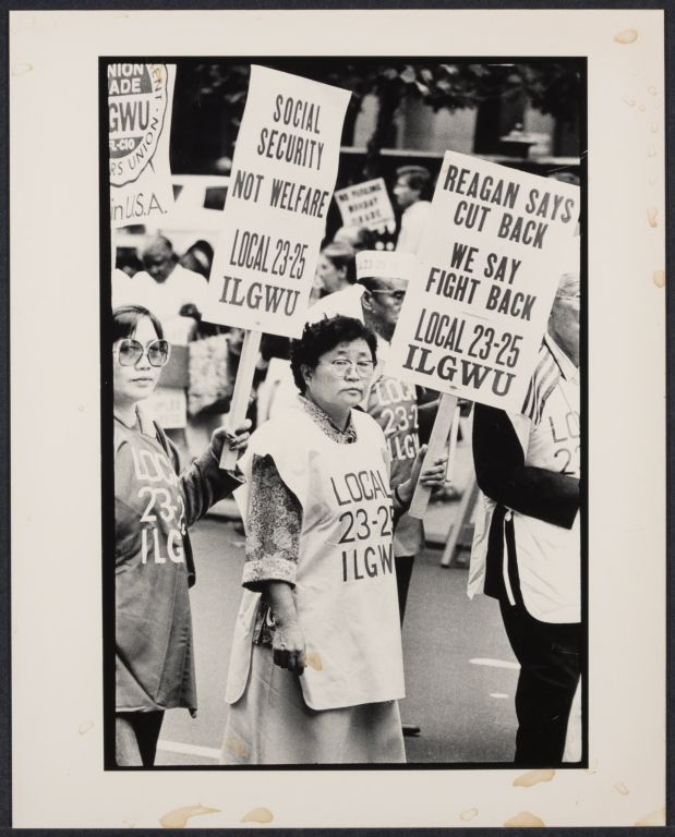 Union women march in Labor Day parade