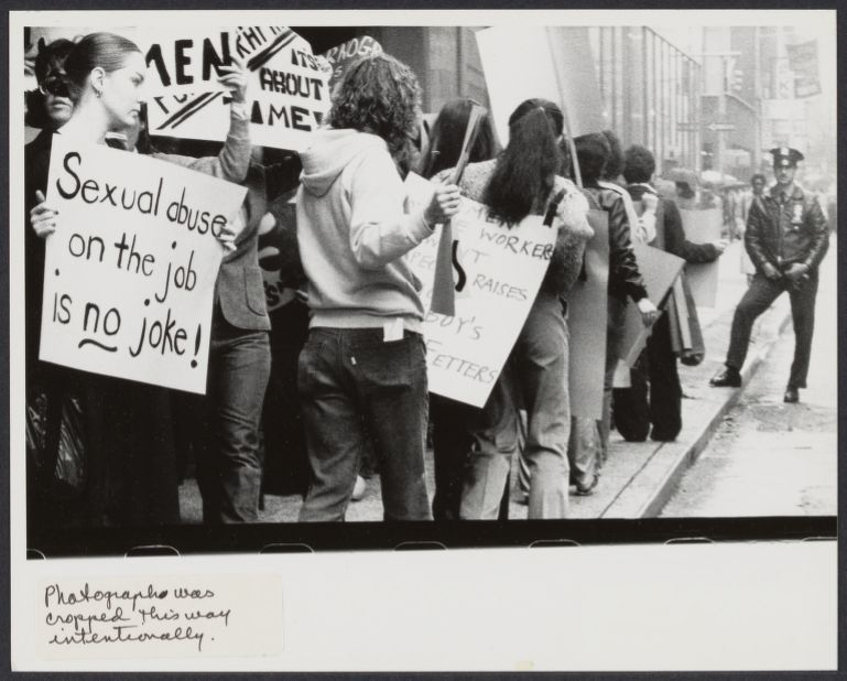 Sexual abuse protest in front of NYC Playboy Club