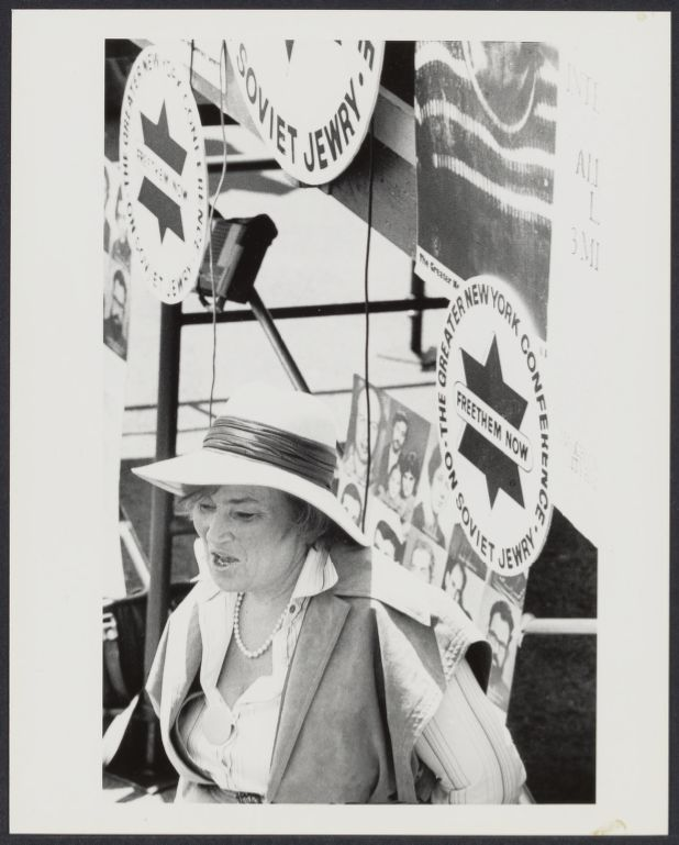 Bella Abzug in support of Soviet Jewry