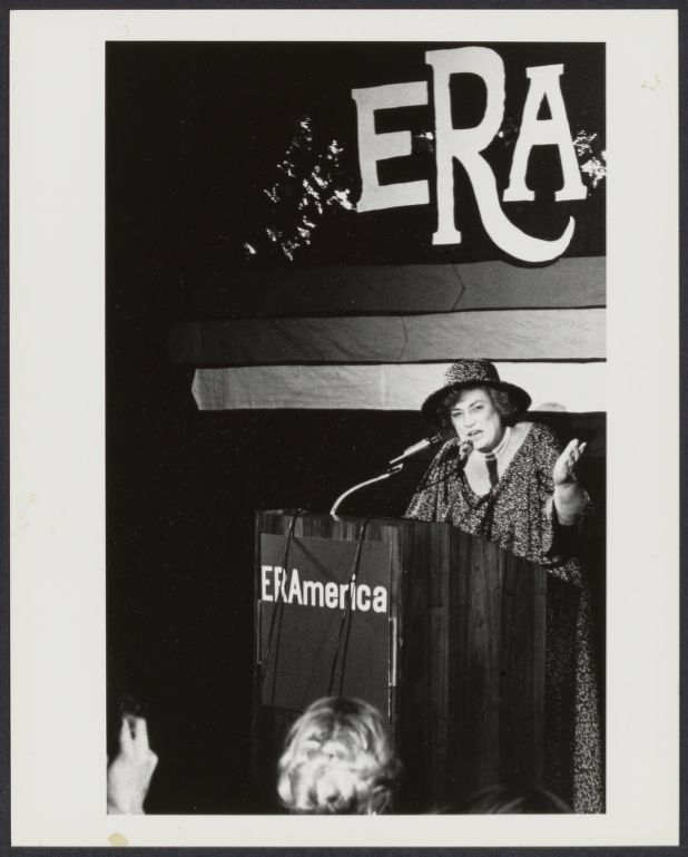 Bella Abzug at International Women's Year conference
