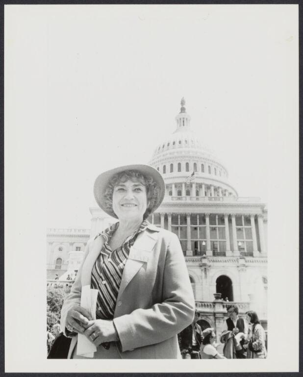 Bella Abzug at anti-nuclear rally in Washington, D.C.
