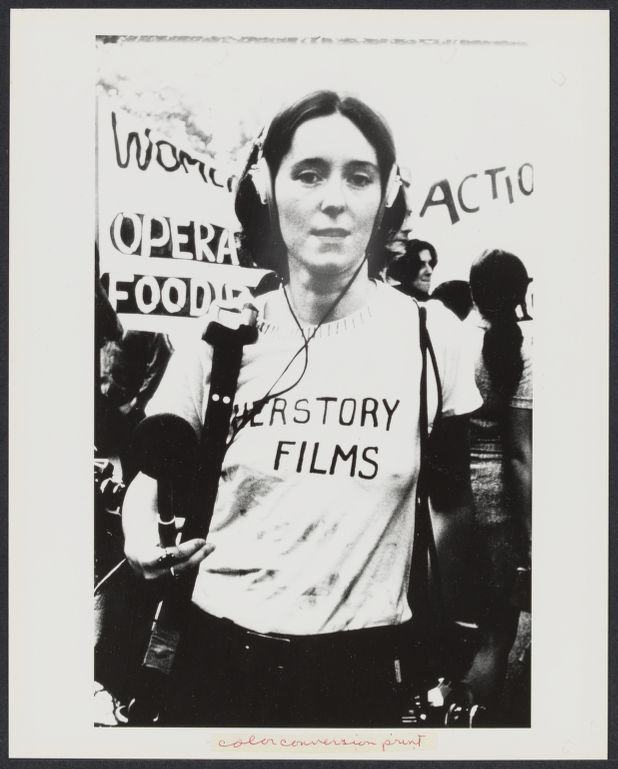 Filmmaker at women's march