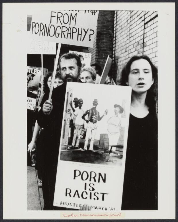 Anti-Hustler magazine demonstration