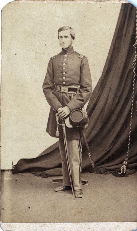 Formal portrait of Captain C. Chandler in Civil War uniform