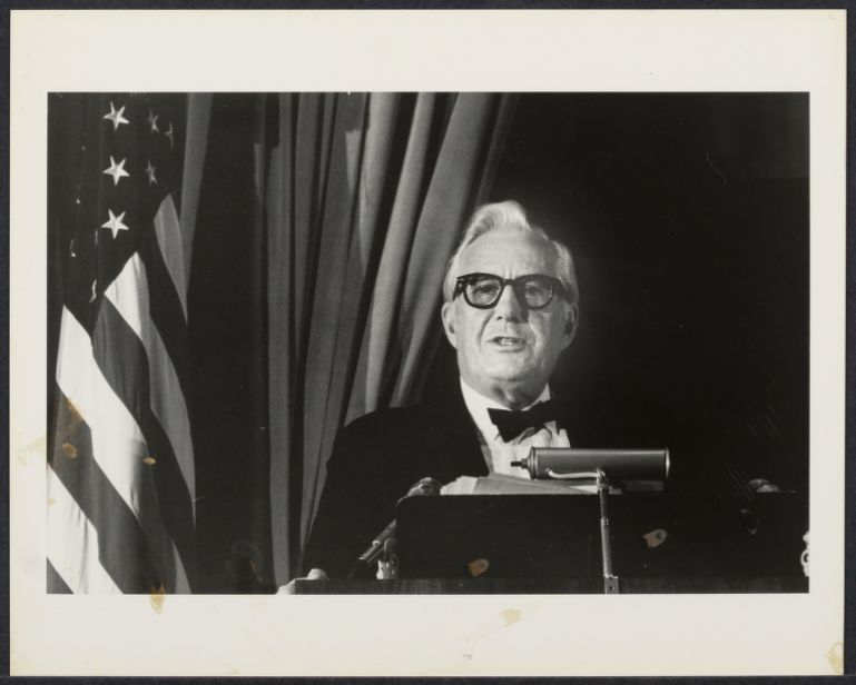 Chief Justice Warren E. Burger speaking