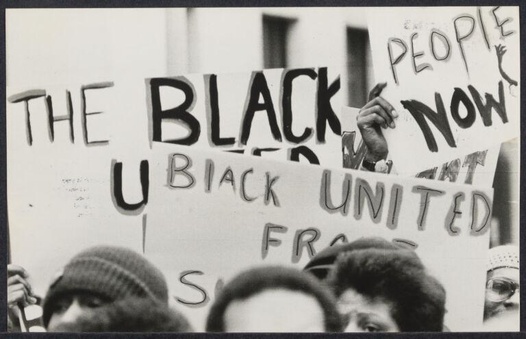 Black civil rights demonstration