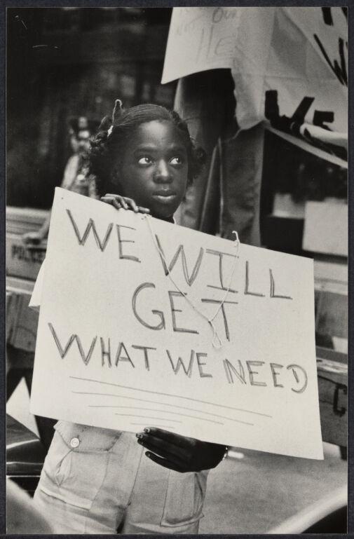 """NY City Hall """"For Jobs"""" demonstration"""