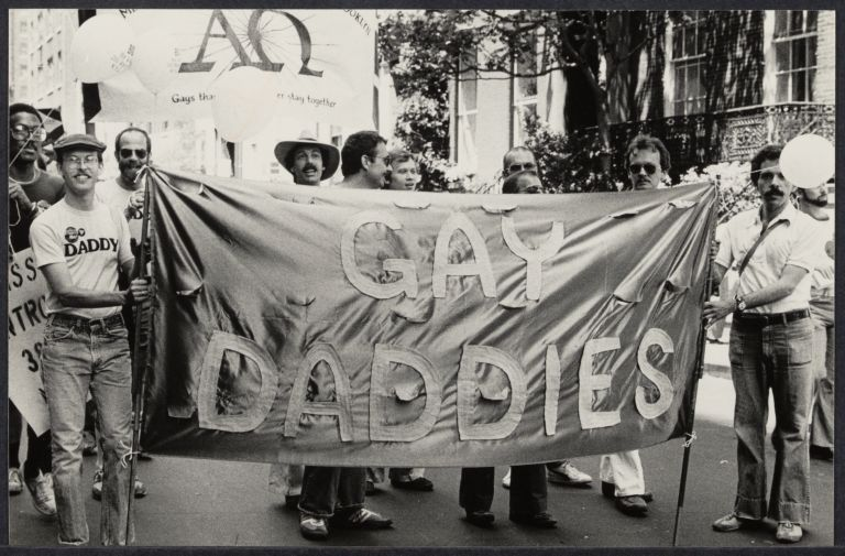 Gay fathers at Christopher Street march