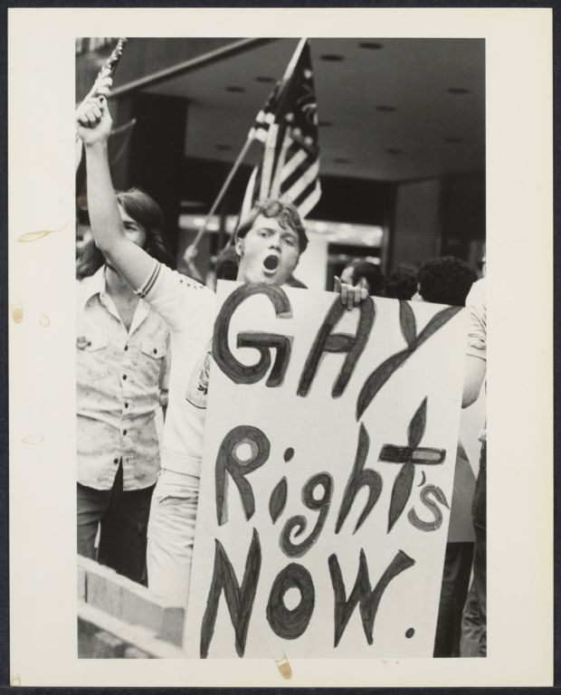 Gay protest for civil rights (Anti-Carter)