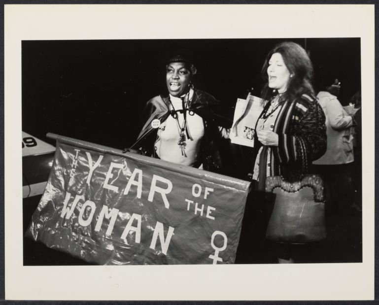 """""""Year of the Woman"""" with Flo Kennedy and an unidentified woman"""