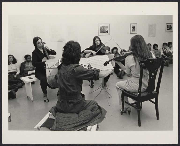 Crescent Quartet performing at the Cerridwen Salon
