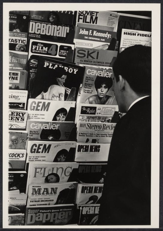 News Stand in NYC, n.d., by Freda Leinwand