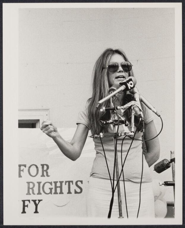 Gloria Steinem at ERA demonstration