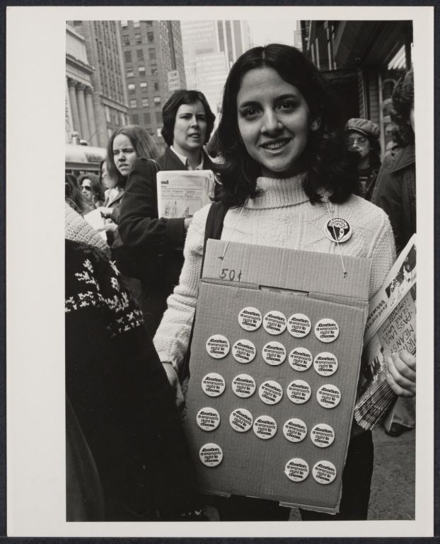 The handmade signs carried during marches, demonstrations and conventions were integral to the success of the movement. While some express very personal issues or opinions, others were scripted by the cause. Buttons were an inexpensive way to spread slogans and allow supporters to display their views.