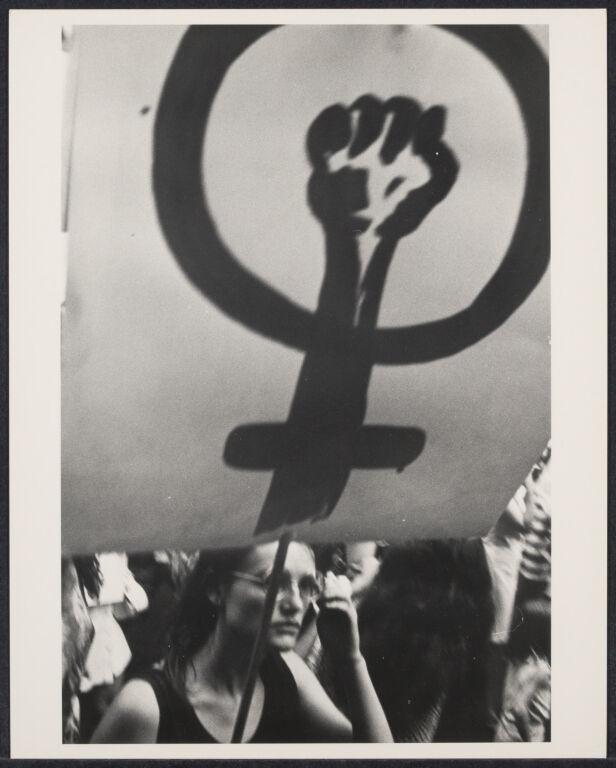 Feminist symbol at women's demonstration