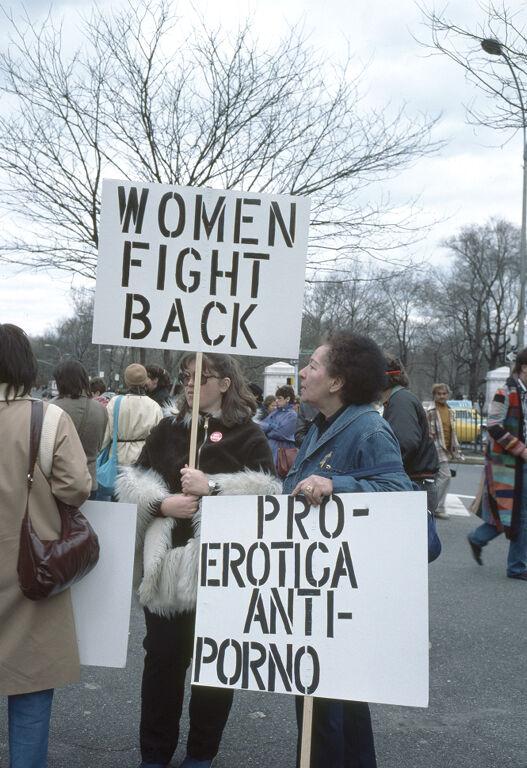 Anti-pornography march, April 1984 by Freda Leinwand