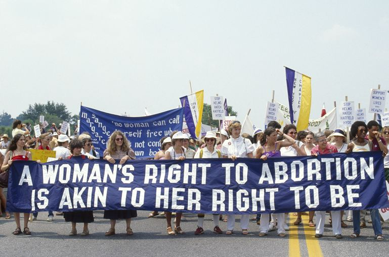 Abortion demonstration in Cherry Hill, New Jersey
