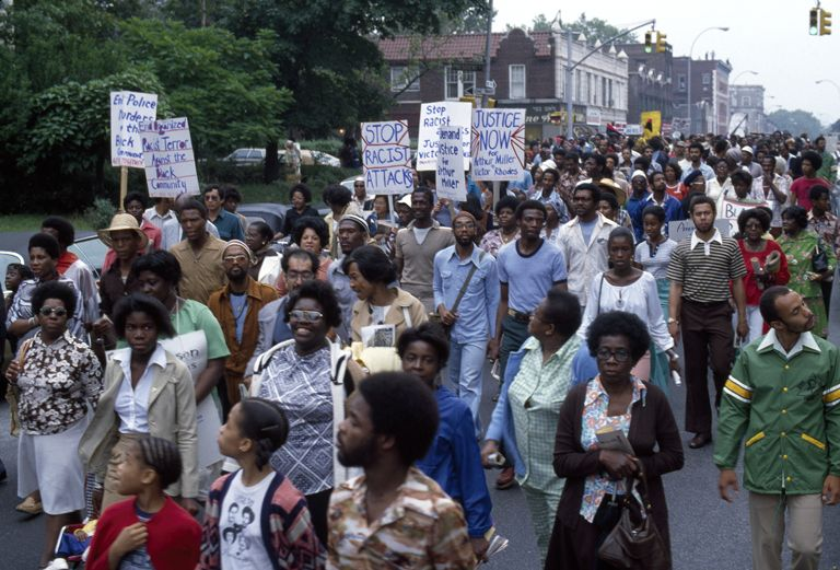 Crown Heights demonstration for Black Civil Rights (1978)
