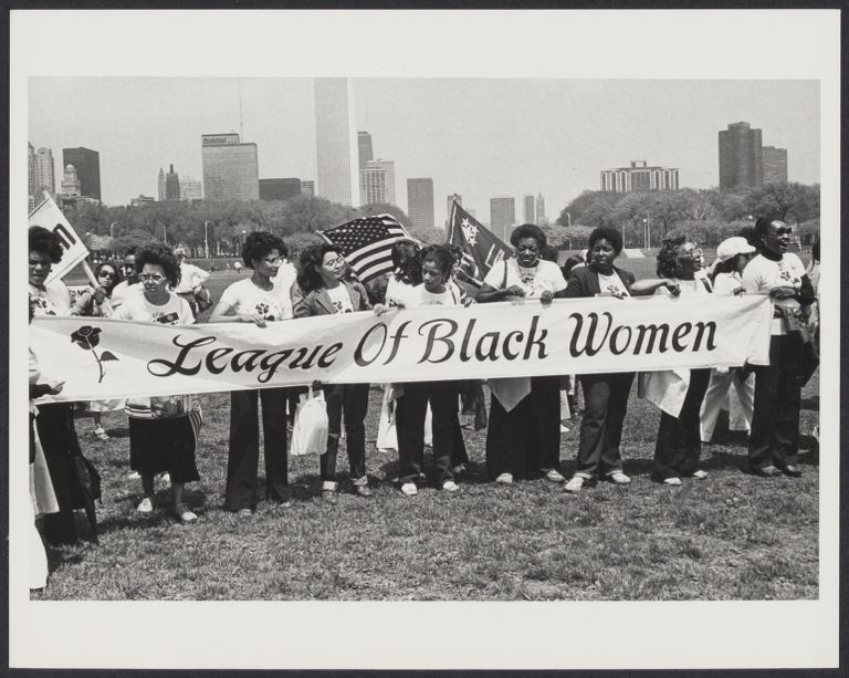 League of Black Women at National ERA March in Chicago, IL, May 1980