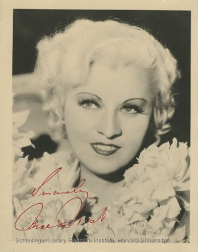 Publicity portrait of Mae West