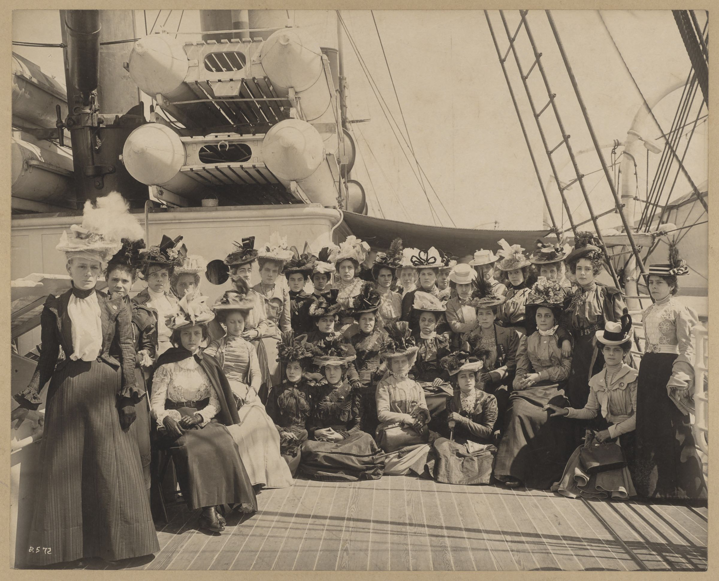 Cuban teachers [on board the] Sedgwick, [photograph], [1900]
