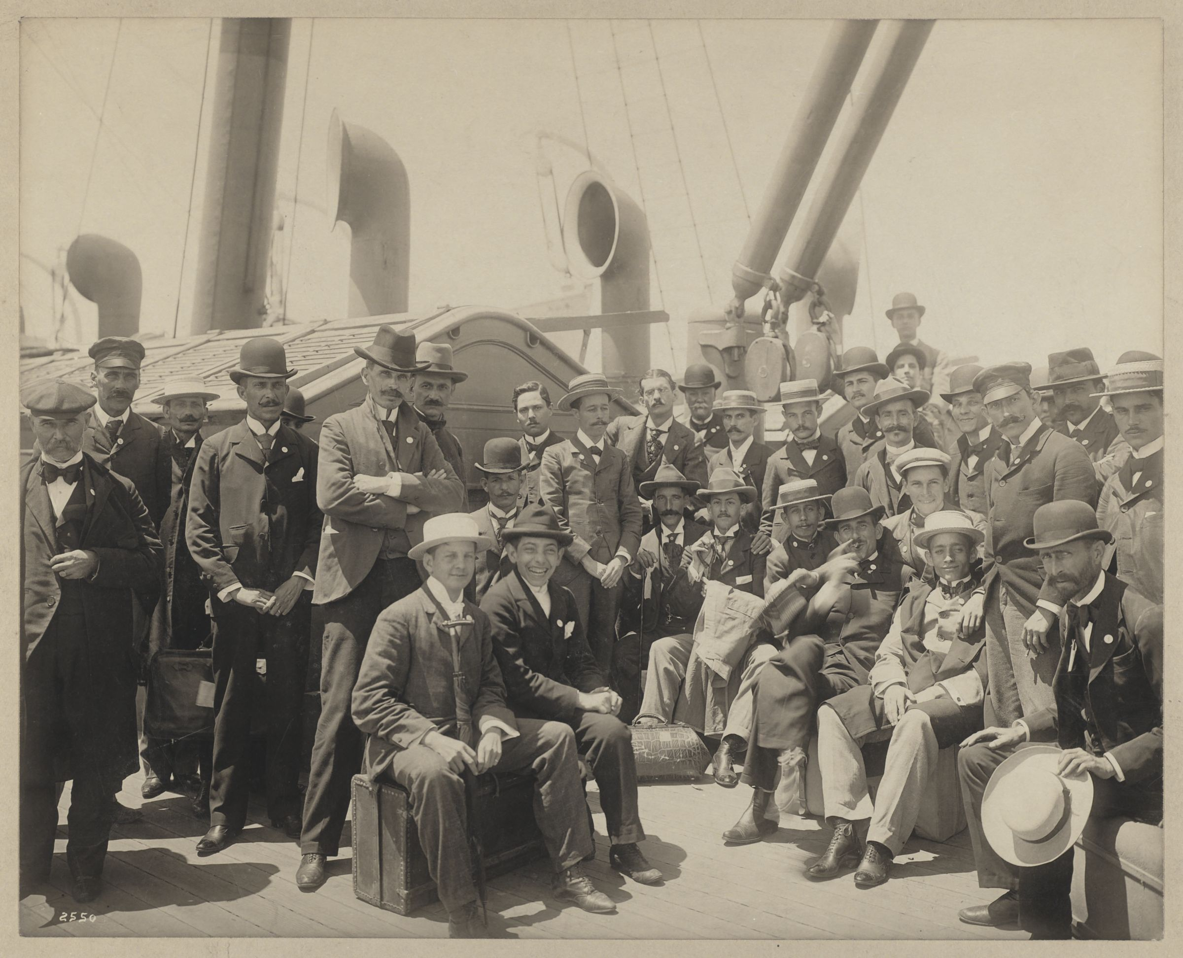 Cuban teachers [on board the] Crook, [photograph], [1900]