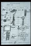 Unfinished, Untitled, or Not Yet - Comparison: notebook page with sketch of sculpture