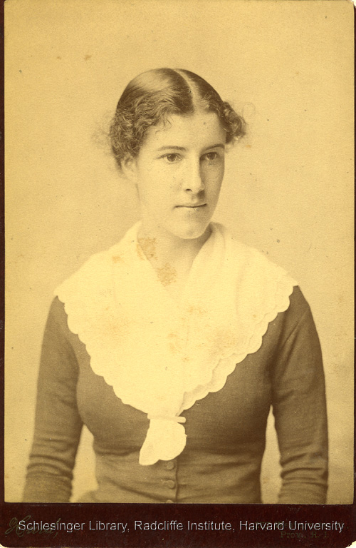 Portrait of Charlotte Perkins Gilman at age twenty four