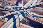 Aerial view of highway interchange, Phoenix, Arizona. Surrogate 154642. olvsite15495