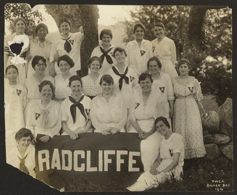 Group portrait of YWCA 1916 Silver Bay Radcliffe delegation