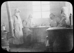 Dr. Aspland receiving reports, Fuchiatien