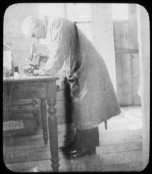 Dr. Aspland in Bacteriological Laboratory, Fuchiatin
