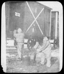Disinfecting plague infected quarantine car, Fuchiatien