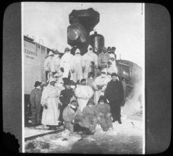 Russian train staff, Harbin